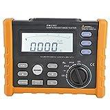 Akozon Erdungswiderstand Tester PEAKMETER PM 2302 Digitaler Erdungswiderstand Tester 0~4 k Ohm 100 Gruppen Datenerfassung Digitalanzeige Analog Bars Display