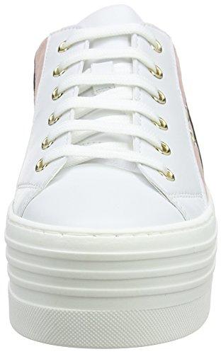 Love Moschino Damen Scarpad.Isla/60 VIT.Bia+Ner/CRO.RSA Sneaker mehrfarbig (White-Pink-Black)