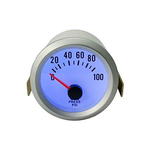 Automobil 52mm Ölpresse Druckmesser 0-100PSI Auto Digital LED Manometer Sensor Auto Zubehör Teile (farbe: silber) -