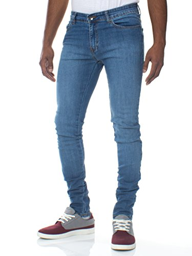 Ze ENZO Enzo Mens Super Skinny Slim Fit Stretch Denim Retro Jeans Pants