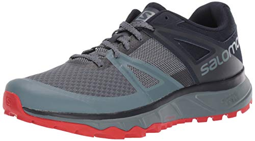 Salomon Herren Trailster Trailrunning-Schuhe, Grau (Grau/Orange), 43 1/3 EU (9 UK)