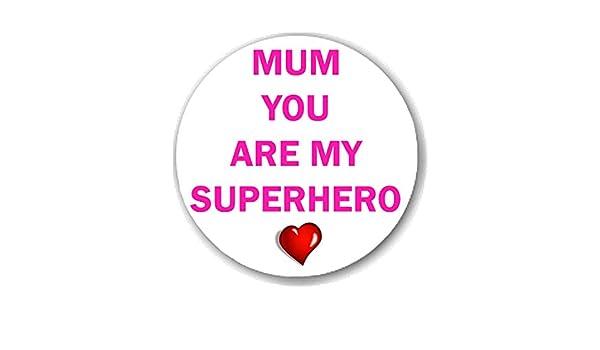I Love Mum Celebration 38mm Badges /& Fridge Magnets with Personalised option Mom