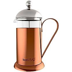 bonVIVO® GAZETARO II cafetera French Press de 0.35 litros