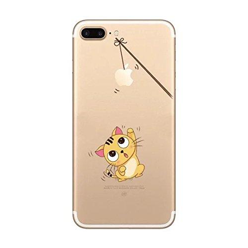 iPhone 7Coque [avec gratuit Protection d'écran en verre], Ultra mince TPU doux Coque pour Apple iPhone 7, coloré Motif Jelly Coque de protection pour iPhone 7, plastique, Cat1, Iphone 7 Plus 5.5 inch Cat2