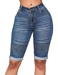 cb7bf3fb7e Vectry Mujer Vaqueros Rotos Pantalones Mujer Leggins Deportivos Shorts Vaqueros  Mujer Talla Grande Pantalones Cortos Mujer