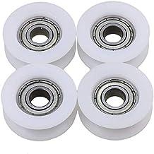 UCTOP Store - Rodamientos de nailon para polea con ranura en U (4 unidades,