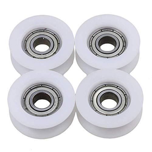 UCTOP Store - Rodamientos de nailon para polea con ranura en U (4 unidades, 6 x 21 x 7 mm)