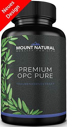 Premium OPC Traubenkernextrakt - nur hochwertige OPC-Moleküle (Dimere-Tetramere) aus Spanien, hochdosiert 200mg/Kapsel. Laborgeprüft, ohne Zusatzstoffe, vegan. Hergestellt in Deutschland -