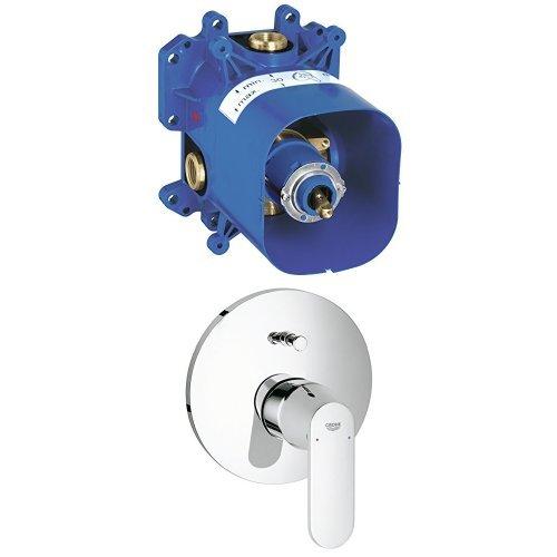 Grohe Rapido E Unterputz-Universal-Einhebelmischer für Wanne und Brause + GROHE Eurosmart C Einhand-Wannenbatterie Fertigmontageset