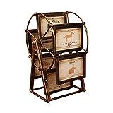 Cadre photo rotatif grande roue, moulin à vent rétro forme cadre photo tableau décoration de bureau et...