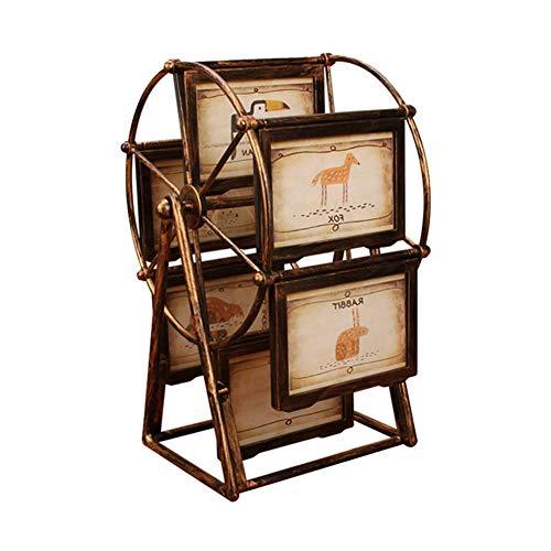 Marco giratorio foto rueda fortuna, decoración escritorio