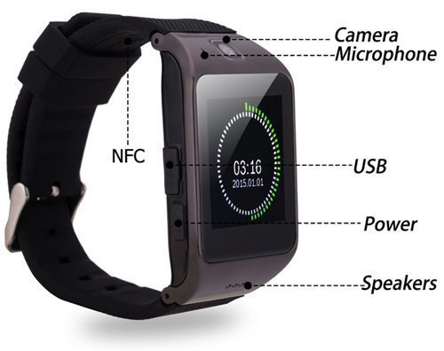 Lakshika Bluetooth Smart Watch Phone With Camera and Sim Card Slot For Acer Liquid E700 / Acer Liquid E 700 Smart Watch Original M9 Nine DZ-09 Smartwatch Bluetooth Smart Wrist Watch | Best U8 Bluetooth Authentic U Watch | Whatsapp | Internet | Facebook | Activity Tracker | Fitness Band | Music | Micro SD Memory Chip Card | Outdoor, Health, Digital Touch Screen, Lightweight, Wifi, Internet, 4G, Fashion New Arrival Hot Fashion Premium Quality Lowest Price Sports  available at amazon for Rs.1399