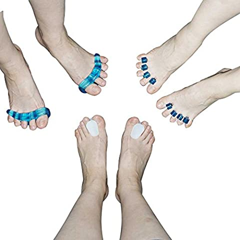 Gel Bones Corrector Pedicure Device Tools Hallux Valgus appliance Kit-6pcs ToePal Kit Silicone -- Instant Therapeutic Relief For Feet. Fight Bunions, Hammer Toes &