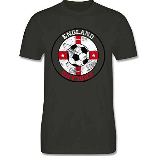 EM 2016 - Frankreich - England Kreis & Fußball Vintage - Herren Premium T-Shirt Army Grün