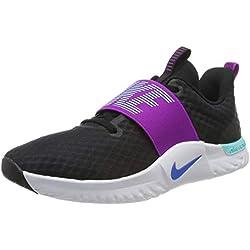 Nike Wmns Renew In-Season TR 9, Zapatillas de Gimnasia para Mujer, Negro (Black/Photo Blue/Vivid Purple/Lt Aqua/White 007), 40 EU