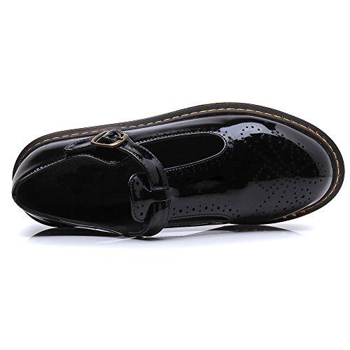 Court HUDONGBO femme talons Shoes Noir Petits x60drCqw0