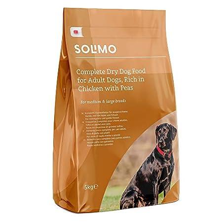 Amazon-Marke: Solimo Komplett-Trockenfutter für ausgewachsene Hunde (Adult)