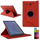 COOVY® Cover für Samsung TAB E 9.6 SM-T560 SM-T561 SM-T565 Rotation 360° Smart Hülle Tasche Etui Case Schutz Ständer | Farbe rot