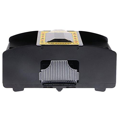 Sharplace 1-2 Decks Elektrische Kartenmischmaschine, Automatisches Kartenmischgerät für Poker