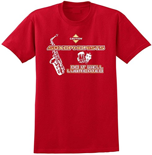 Saxophone Sax Alto Well Lubricated - Red Rot T Shirt Größe 127cm 51in 3XL MusicaliTee -