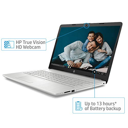 HP 15 Ryzen R3 15.6-inch Full HD Laptop (4GB/1TB HDD/Windows 10 Home/Vega 3 Graphics/MS Office/Natural Silver/2.04 kg), 15-db0186AU Image 4