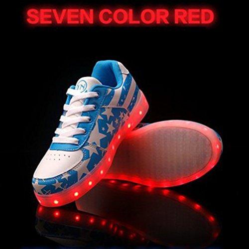 Star Glow Flagge Handtuch kleines Unisex Luminous Led present Frauen Männer Leuchten Freizeitschuhe Usb Schuhe C27 junglest® Lade American 6qwvxFU
