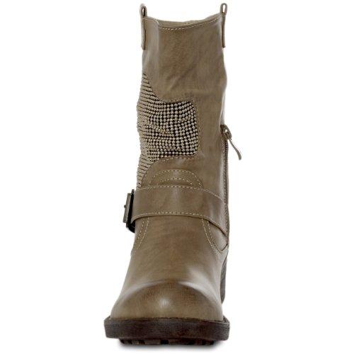 CASPAR Taschen & Accessoires, Stivali donna (Kaki)