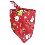 POPETPOP Collare Bandana di Natale per Cani, Fazzoletto Fazzoletto da Collo Accessori per Animali Domestici Cani e Cuccioli (Rosso)