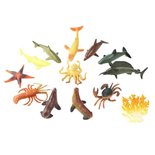Toyvian Juego Juguetes Figuras Animales Marinos Juego