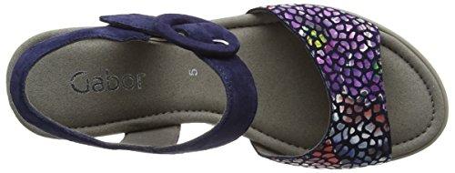 Gabor Shoes Fashion, Sandali con Zeppa Donna Blu (blue/river 16)
