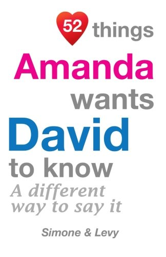 52 Things Amanda Wants David To Know: A Different Way To Say It (52 For You)