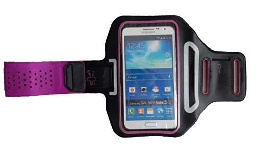 Pulsera Deportiva Fitness Cover para Huawei Y6 II Compact, Brazo del teléfono móvil Funda Ligera, Manga Plana Jogging Unisex, Dealbude24 Trendy L Púrpura