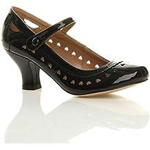 5008dcf3b3b7 Chaussures escarpins babies classique cœur découpée femmes petit talon  taille