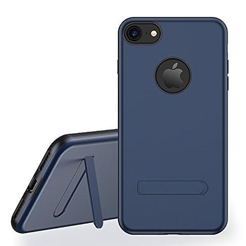 iPhone 7 Hülle RANVOO Aluminium+TPU Material, Dünn, Stoßfest, Stilvolles Design mit verdeckter Aluminium Rüstungsständer für iPhone 7 (11,9 cm 4,7 Zoll), Blau