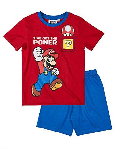 Super Mario - Pijama dos piezas - para niño rojo rosso 4 años
