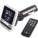 Lorsoul Grand écran d'affichage Bluetooth Télécommande Lecteur MP3 Transmetteur FM sans Fil Chargeur USB Support de Carte TF