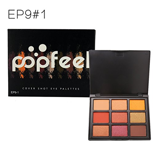 Mac Cream Color Base (Pure Vie Professional 9 Colors Eyeshadow Palette Makeup Contouring Kit- Warm Cosmetic Eye Shadows Ideal for Professional and Daily Use #1)