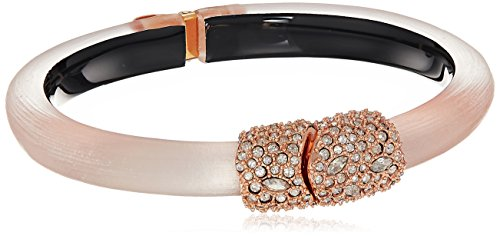 Alexis Bittar Crystal Encrusted Clasp Skinny Hinge Cuff Bracelet, One Size