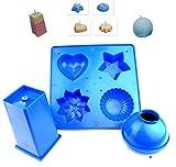 Proops Kerze Form Set X 3, Herz, Stern, Blume, Kuppel, Kugel & rechteckig quadratisch. UK Made. (s7509) versandkostenfrei innerhalb UK