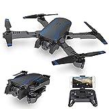 AKASO Drone Pliable avec Caméra HD 1080P WiFi FPV avec Vol de Trajectoire,Helicoptère Télécommandé,3D VR,Mode sans Tête,360°Flips et Maintien de l'altitude Maniable,Quadcopter pour Débutants et Enfant