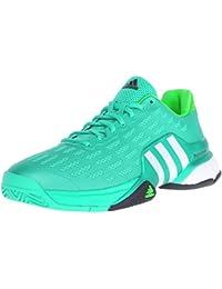 Adidas Barricade 2016 zapatos Boost de tenis, Negro / negro / hierro metálico / gris, 7,5 M con nos