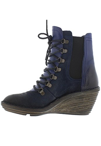 FLY London Suzu, Bottes Rangers femme Ocean Blue