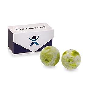 Meditation Qi-Gong-Kugel Paar | Yin Yang Steinkugel | STEIN JADE LANTIAN | Durchmesser: 50mm