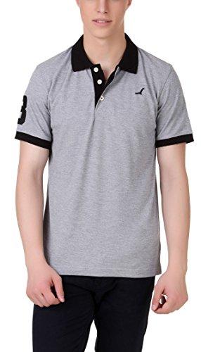 American Crew Polo No.3 Applique Grey T-Shirt - S (AC155-S)