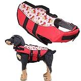 WPCASE Salvagente Cane Giubotto Salvagente Cane Giacca per Cani Riflettente Giacche per Cani Impermeabili Giubbotto di Salvataggio per Cani 07red,s