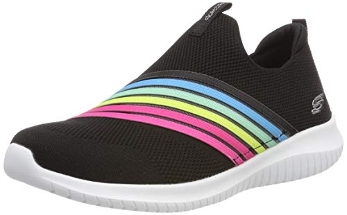 the latest 9fac4 40f7e Skechers Ultra Flex-brightful Day, Baskets Enfiler Femme, Noir (Black Multi  BKMT
