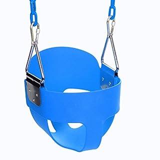 Ancheer Babyschaukel Kinderschaukel Gartenschaukel mit Karabinerhaken und 1.5m Edelstahlkette, für Kinder von 3 bis 7 Jahren, Tragfähigkeit bis zu 50 kg