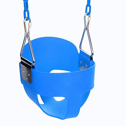 Ancheer Schaukel Kinderschaukel Gartenschaukel mit Karabinerhaken und 1.5m Edelstahlkette, für Kinder von 3 bis 7 Jahren, Tragfähigkeit bis zu 50 kg