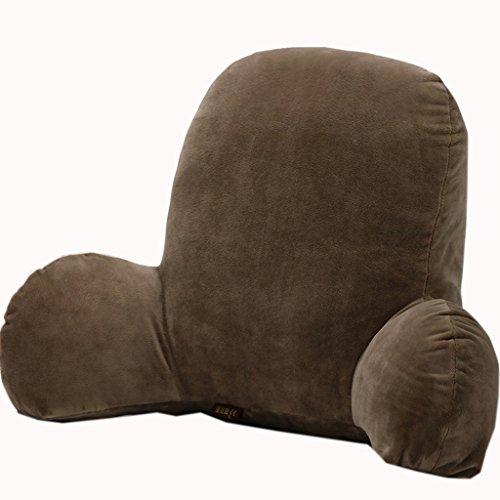 uus Simple Mordern Coussin Convient pour canapé-lit Chaise siège dossier Pure couleur confortable avec deux ailes (couleur café) ( taille : 65*40*26cm )