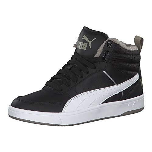 Puma Unisex-Kinder Rebound Street V2 FUR JR Hohe Sneaker, Schwarz Black White-Elephant Skin 04, 39 EU